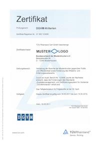 TR Cert_Zertifikat_DGVM-Kriterien_MUSTER_klein